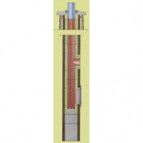 Komin IBF CLASSIC jednociągowy z wentylacją